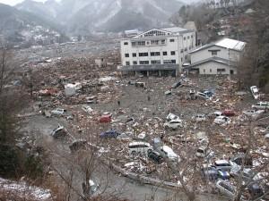 2011年3月、津波や火災で住居の60%以上が倒壊した岩手県大槌町