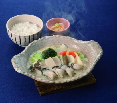 桃浦かきの仙台味噌鍋定食